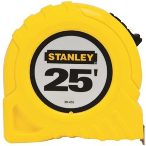 Single calibrated tape measure 25 ft