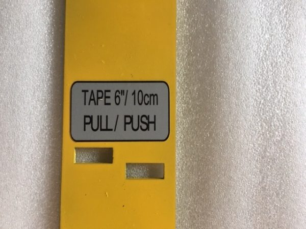Push and Pull method for verifying calibrated tape measure at 6 inch and 10 cm