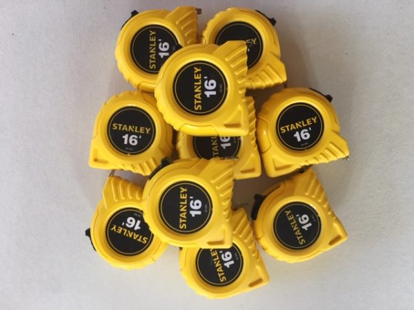 Stanley calibrated tape measure, 16ft Lot of 10, NIST Traceable
