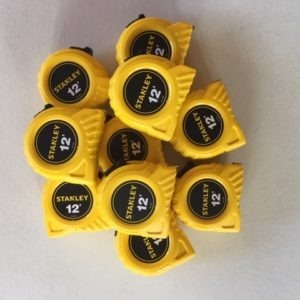Stanley calibrated tape measure, 12ft , Lot of 10, NIST Traceable