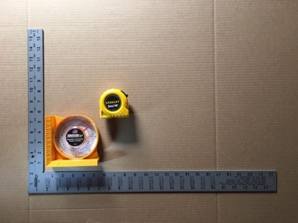 Validation Kit With Square, Tape Measure, Angle Finder