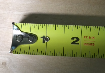 Calibrated tape measure tape-standard