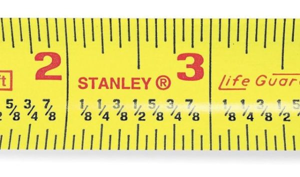 Tape from fraction calibrated tape measure