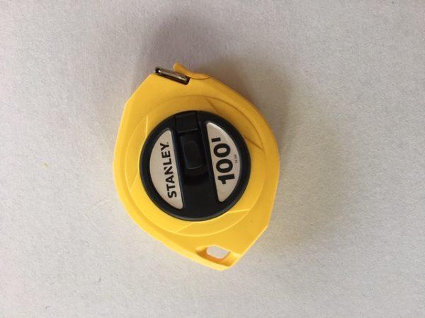 Single calibrated tape measure 100 ft