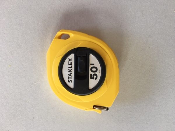 Single calibrated tape measure 50 ft